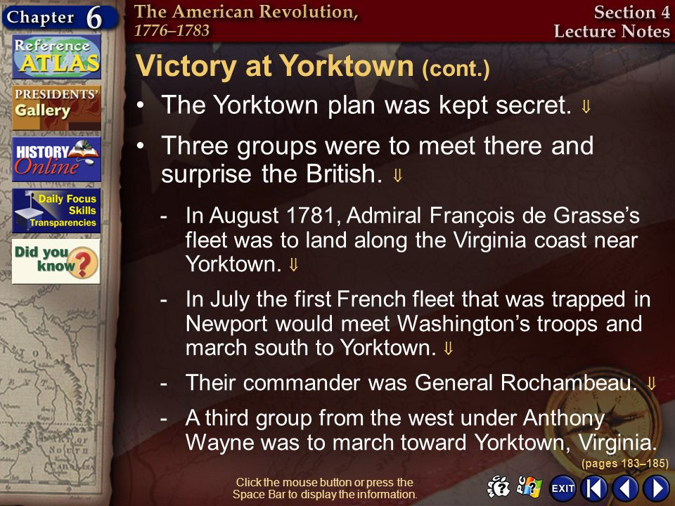 Victory at Yorktown (cont.)