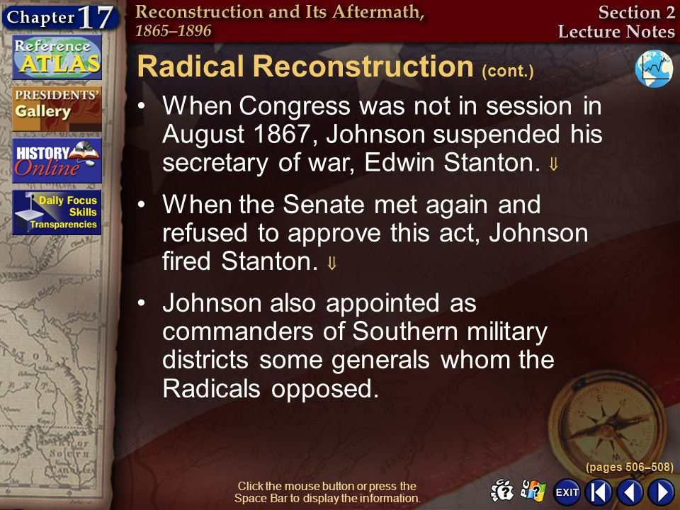 Radical Reconstruction (cont.)