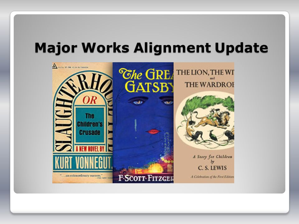 Major Works Alignment Update