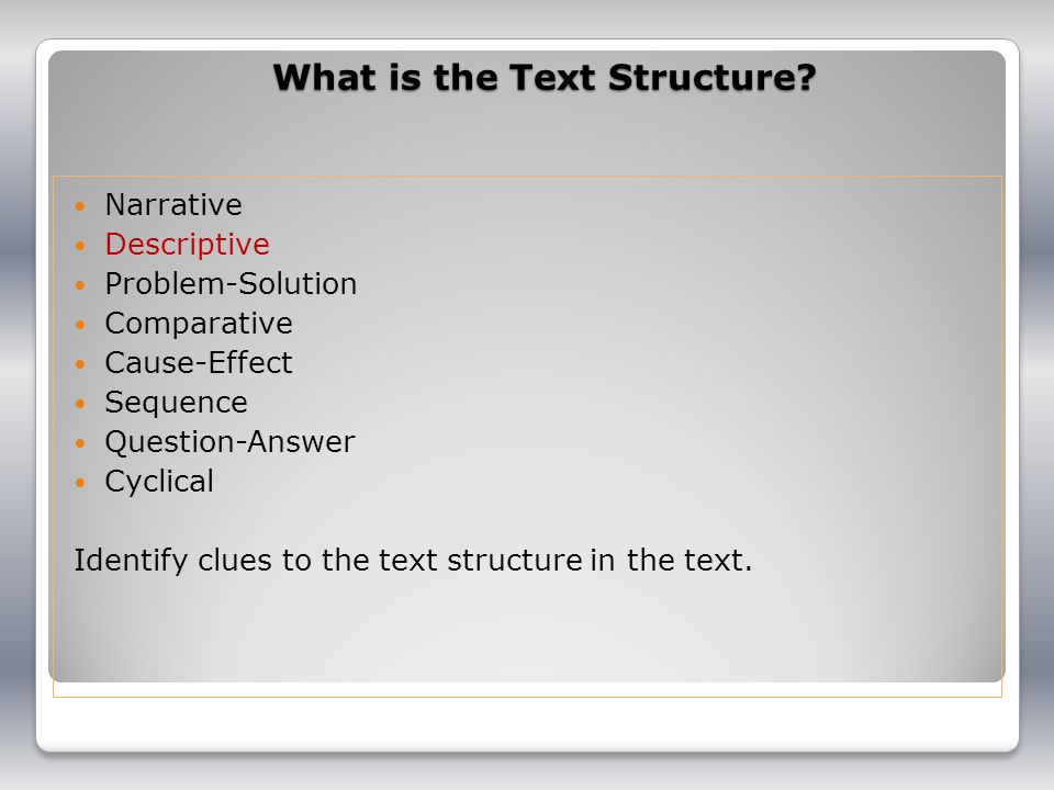 What is the Text Structure
