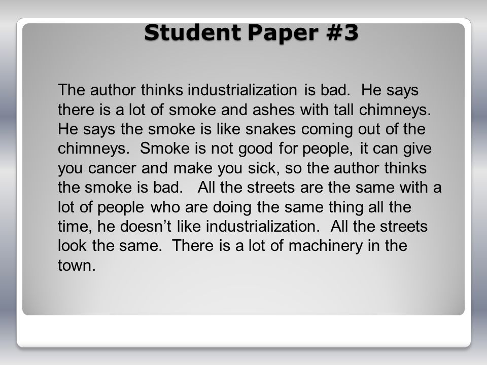 Student Paper #3