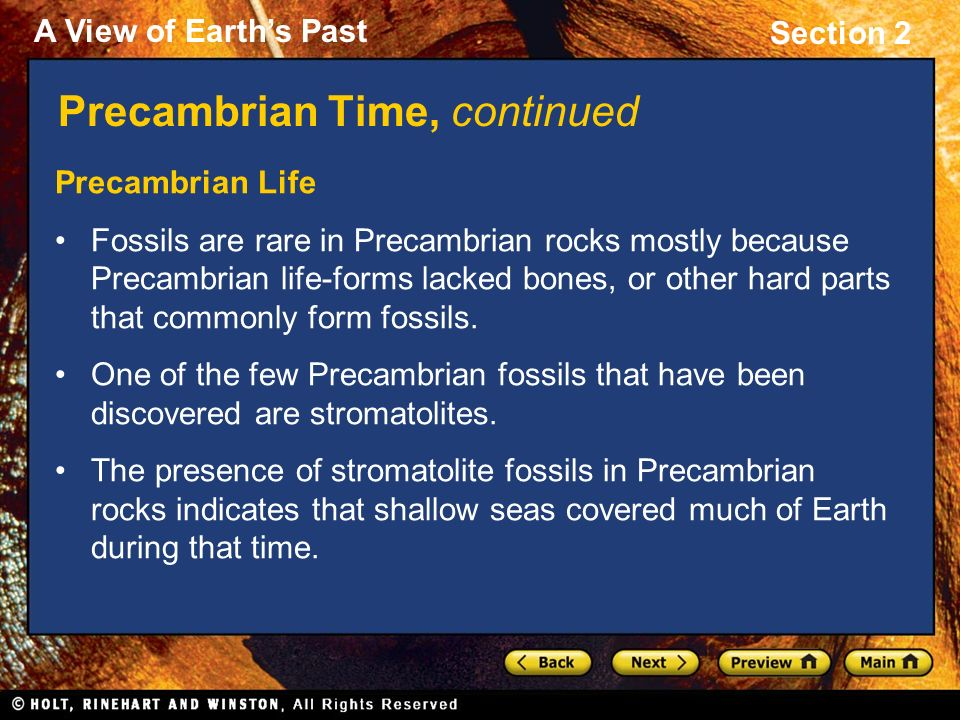 Section 2: Precambrian Time and the Paleozoic Era - ppt video ...