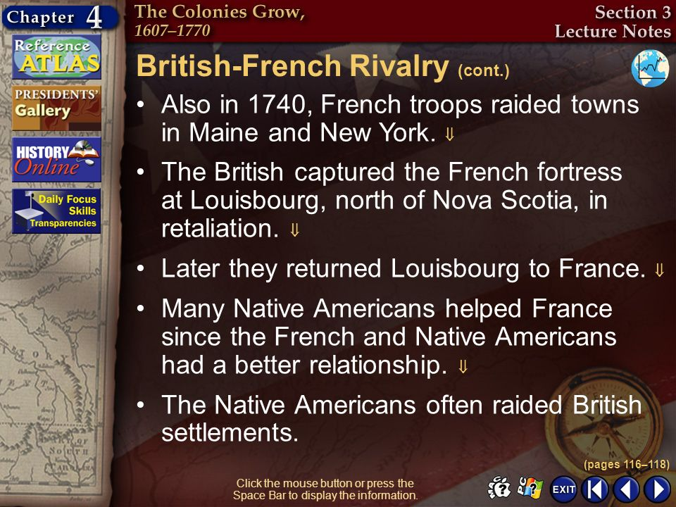 British-French Rivalry (cont.)