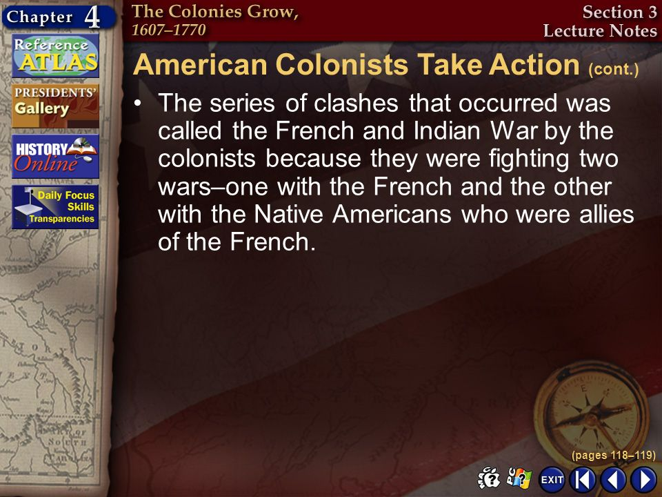 American Colonists Take Action (cont.)