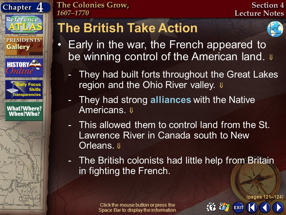 The British Take Action