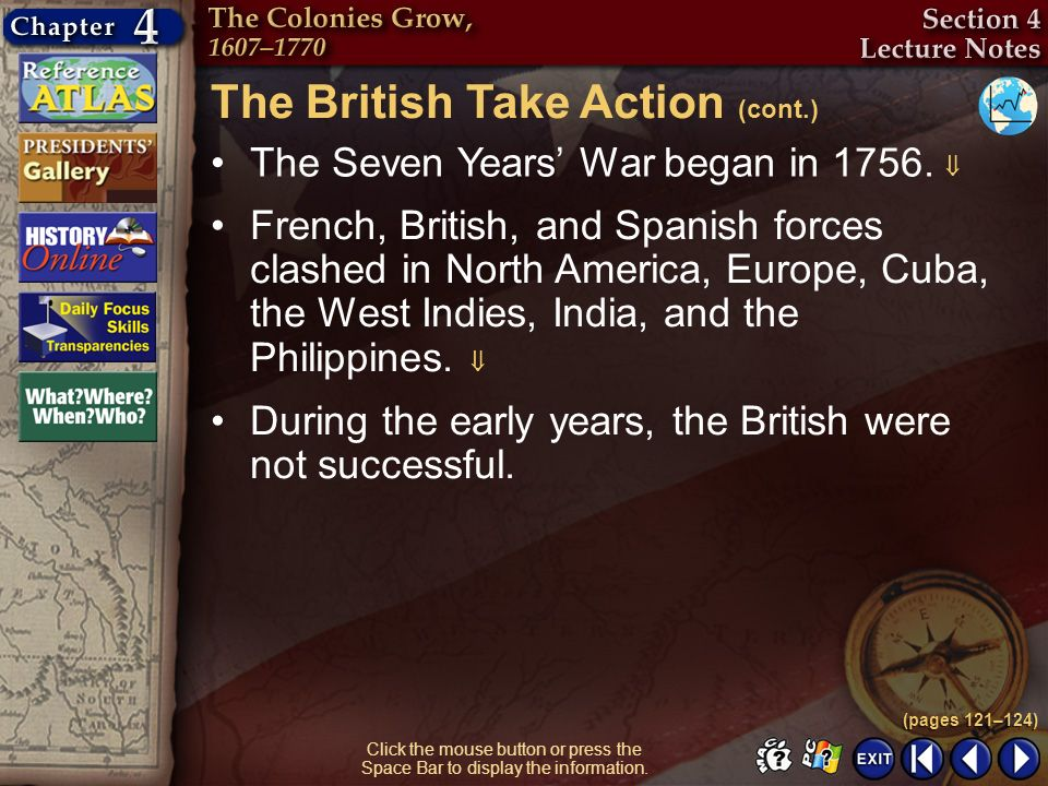 The British Take Action (cont.)