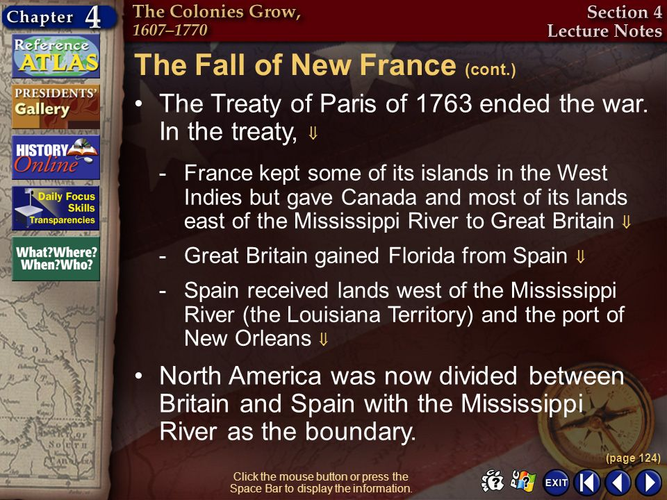 The Fall of New France (cont.)
