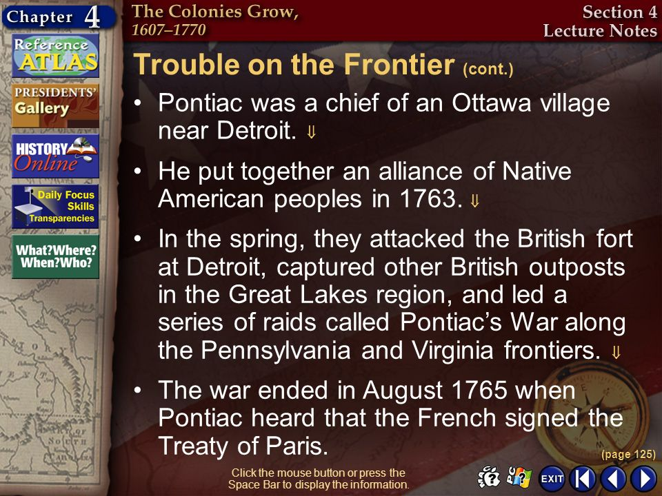 Trouble on the Frontier (cont.)