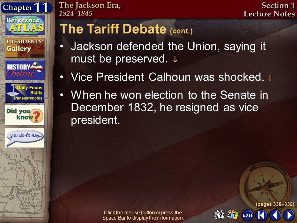 The Tariff Debate (cont.)