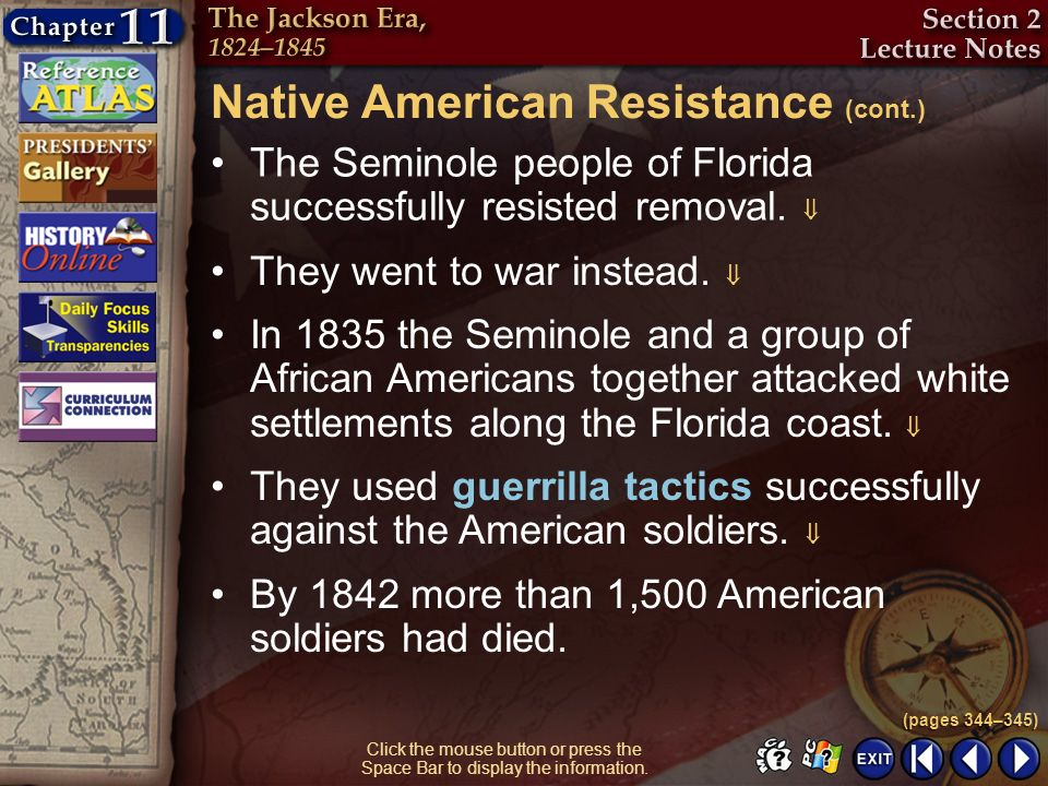 Native American Resistance (cont.)