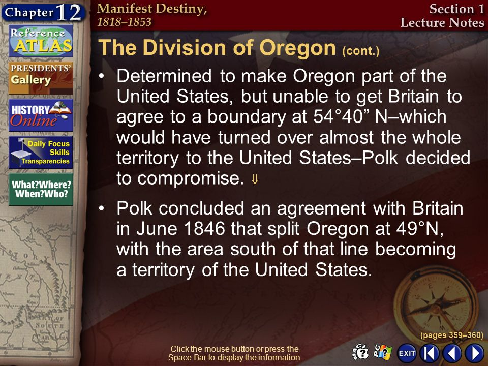 The Division of Oregon (cont.)