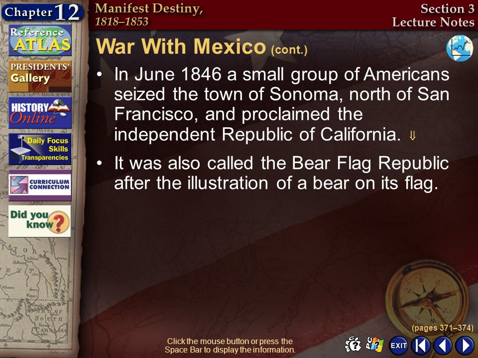 War With Mexico (cont.)