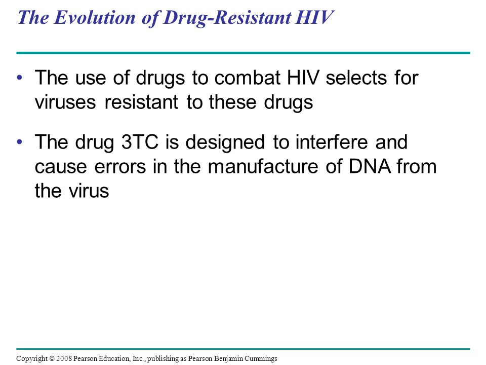 The Evolution of Drug-Resistant HIV