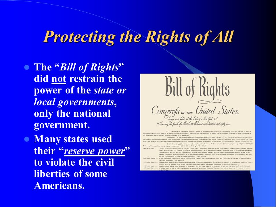 Protecting the Rights of All