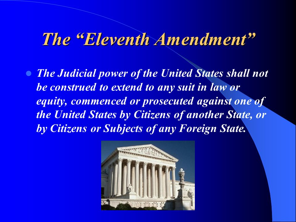 The Eleventh Amendment