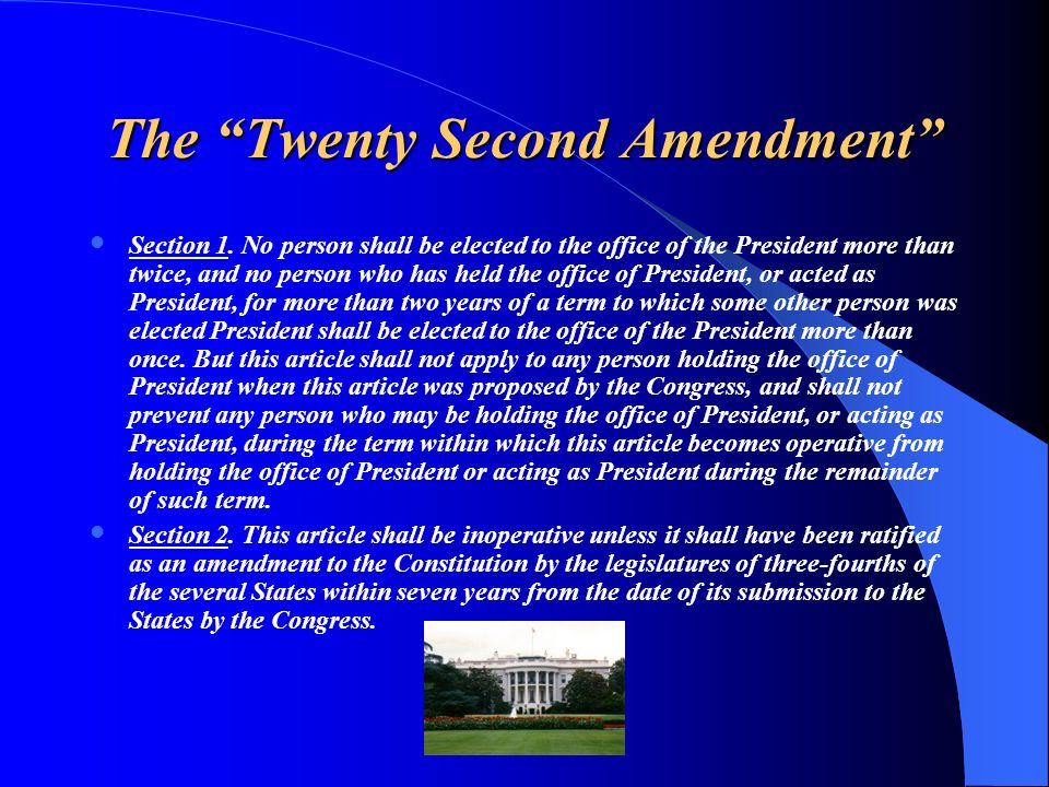 The Twenty Second Amendment