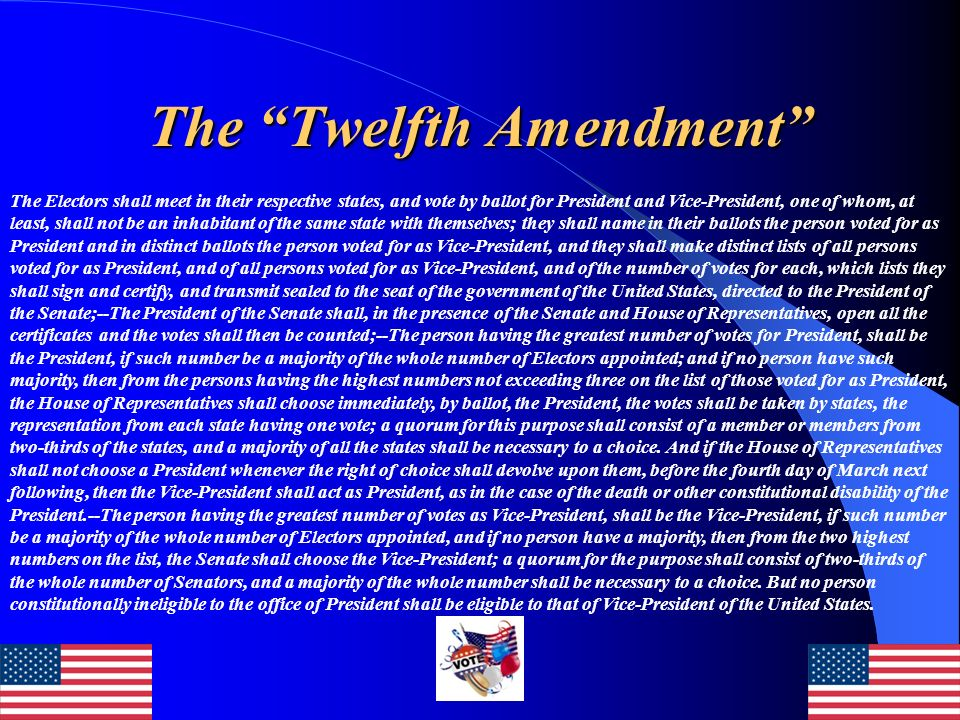 The Twelfth Amendment