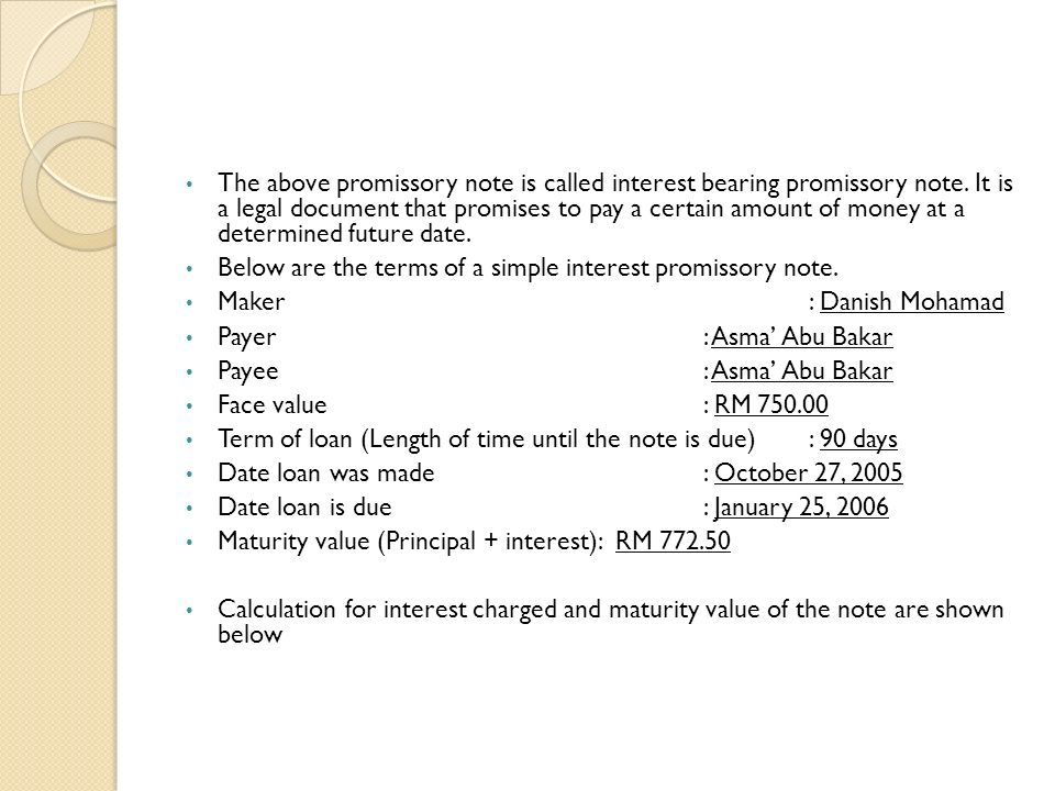 Basic Promissory Note Promissory Note Sample School Promissory