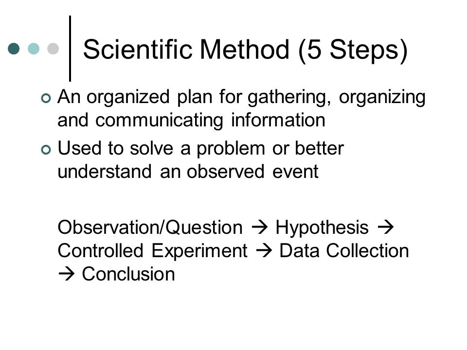 Scientific Method (5 Steps)