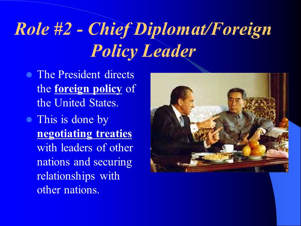 Role #2 - Chief Diplomat/Foreign Policy Leader
