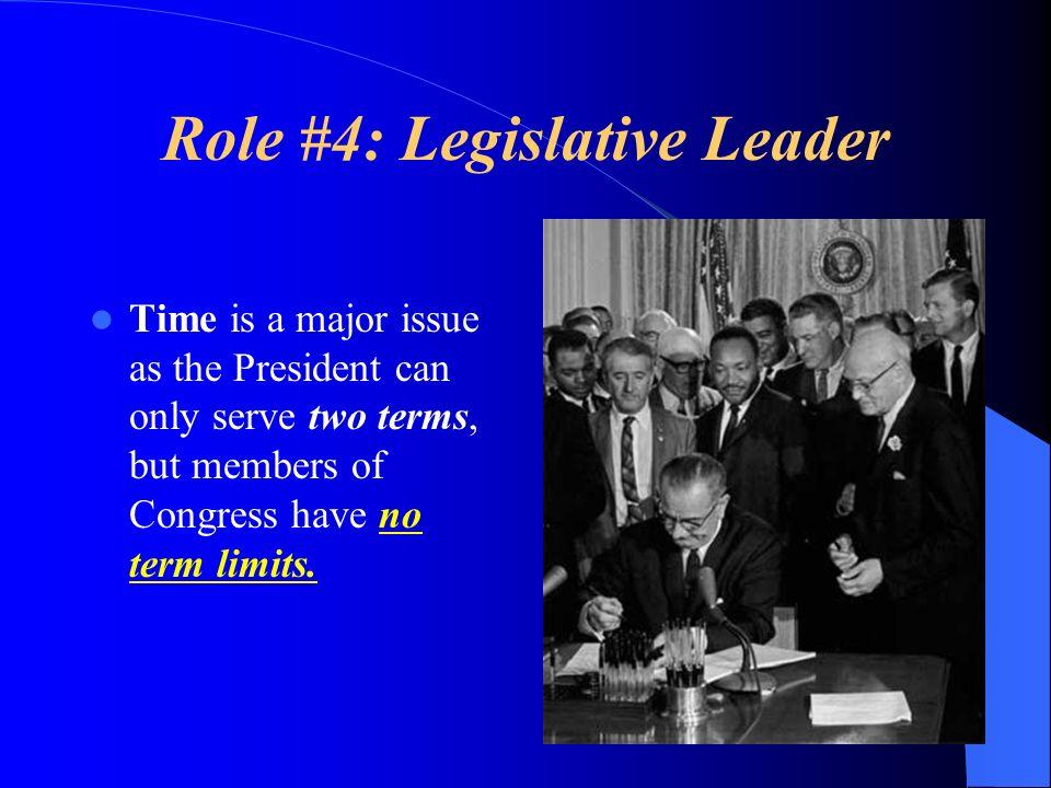 Role #4: Legislative Leader