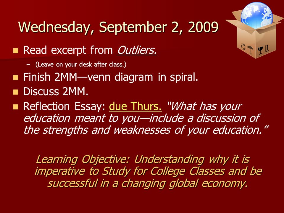 welcome to ap psychology ppt video online  wednesday 2 2009 excerpt from outliers