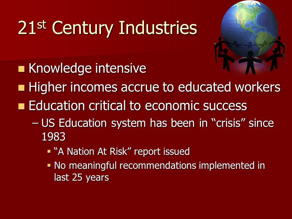 21st Century Industries Knowledge intensive