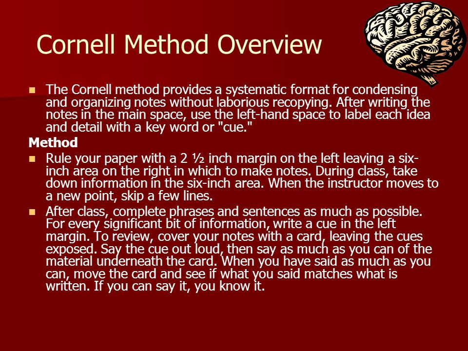 Cornell Method Overview