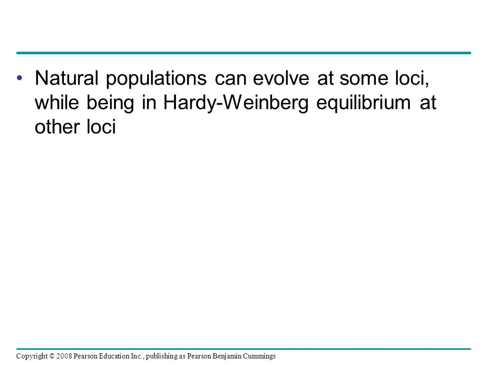 Natural populations can evolve at some loci, while being in Hardy-Weinberg equilibrium at other loci