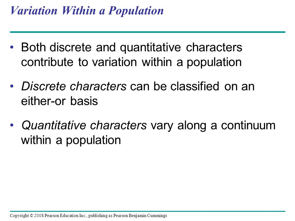 Variation Within a Population