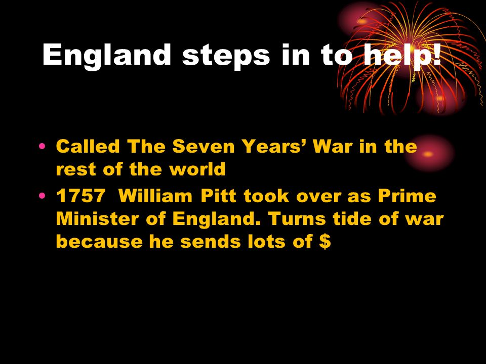 England steps in to help!
