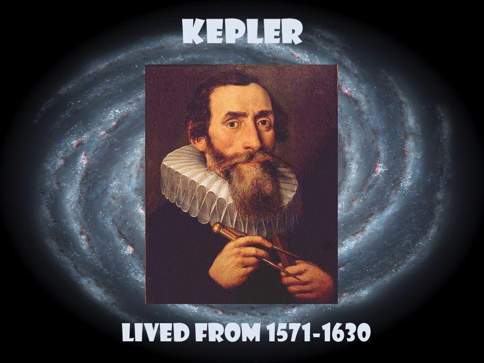 KEPLER Lived from 1571-1630