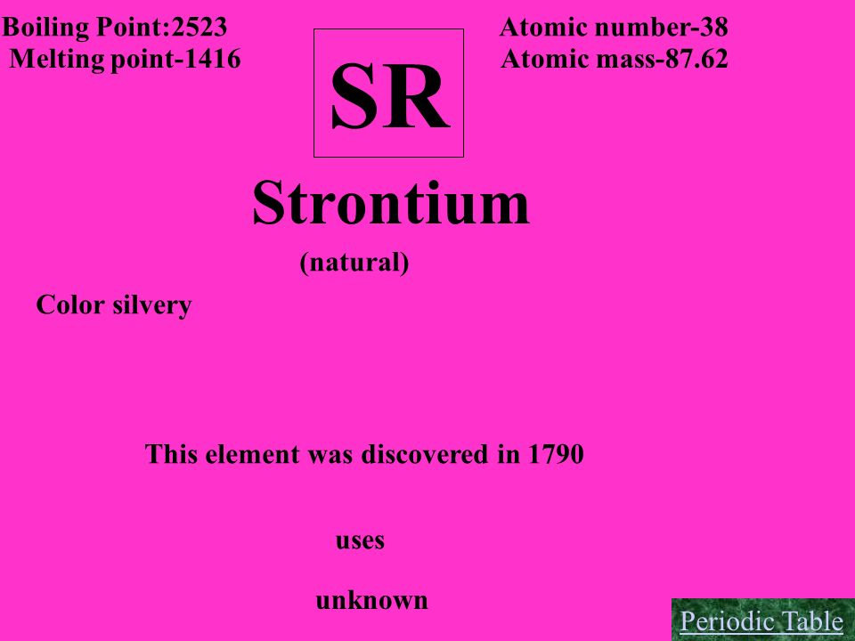 This element was discovered in 1790
