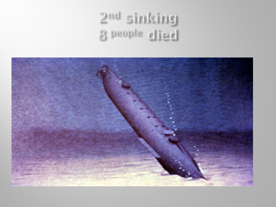 2nd sinking 8 people died