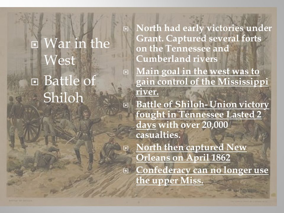 War in the West Battle of Shiloh