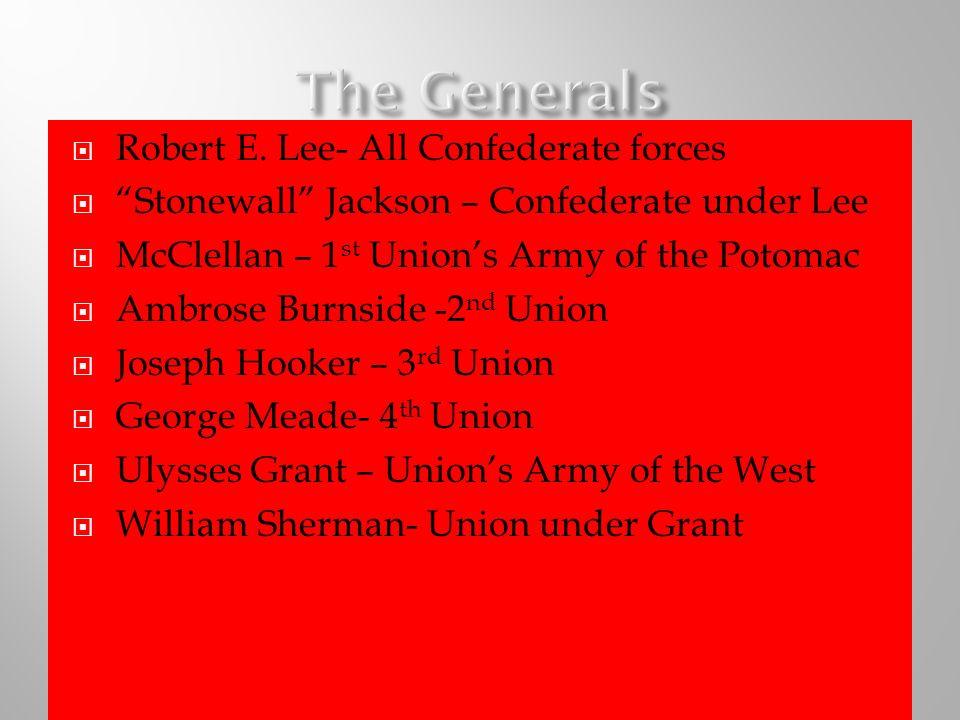 The Generals Robert E. Lee- All Confederate forces