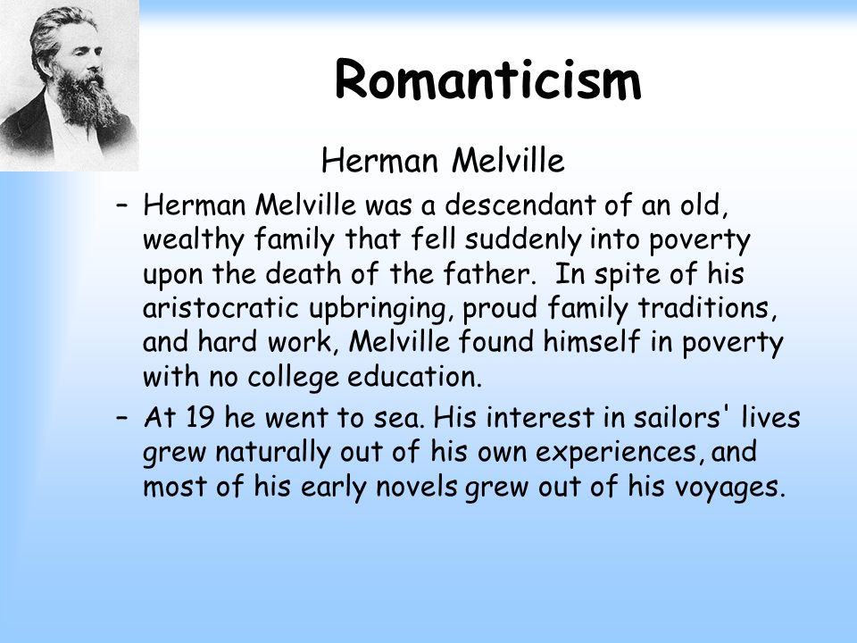 an analysis of the traditional travel novel moby dick by herman melville What is the name of the island to which ishmael and queequeg travel to by prophetic purposes in the novel did herman melville dedicate moby dick.