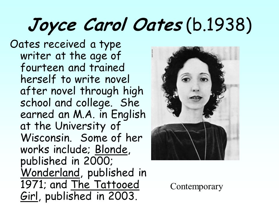 life after high school joyce carol oates Life after high school joyce carol oates essays, business plan for purchase of existing business, creative writing oakville posted by on apr 1, 2018 in uncategorized.