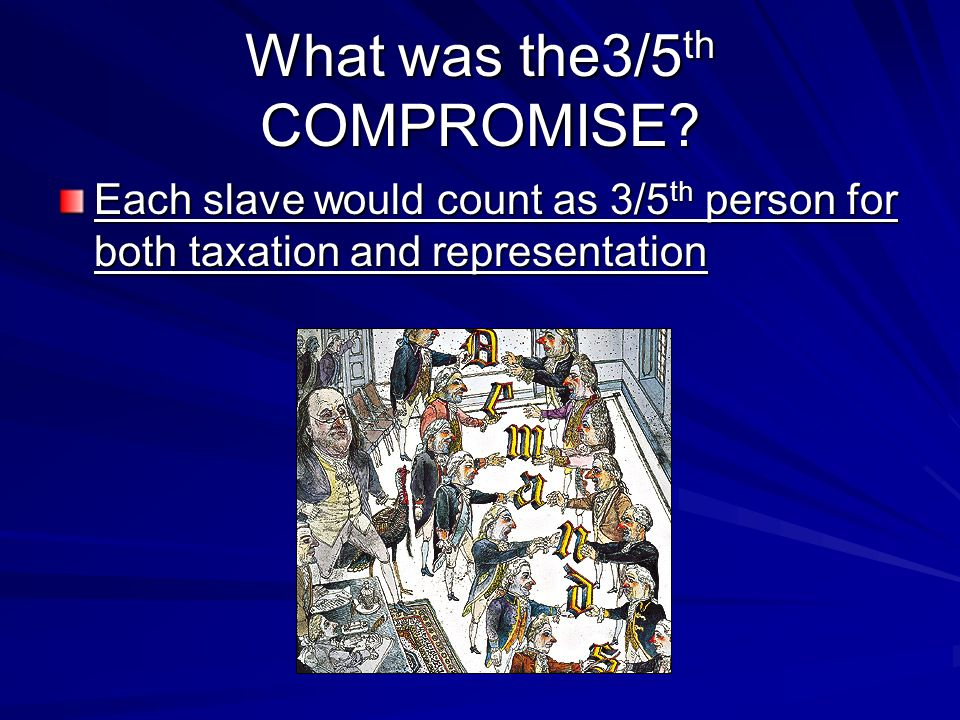 What was the3/5th COMPROMISE