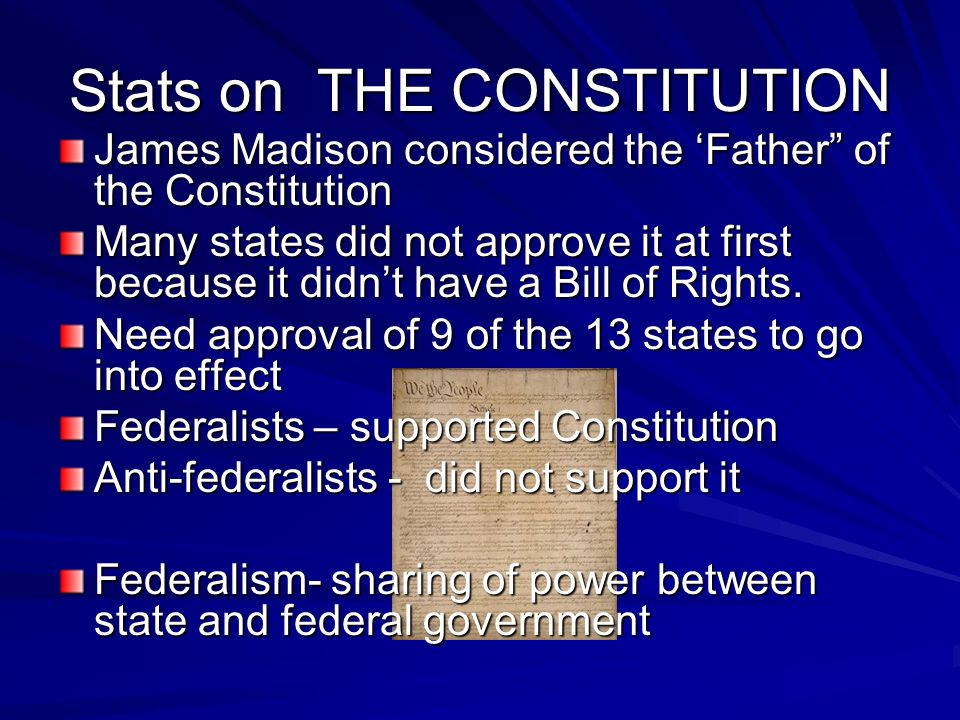 Stats on THE CONSTITUTION