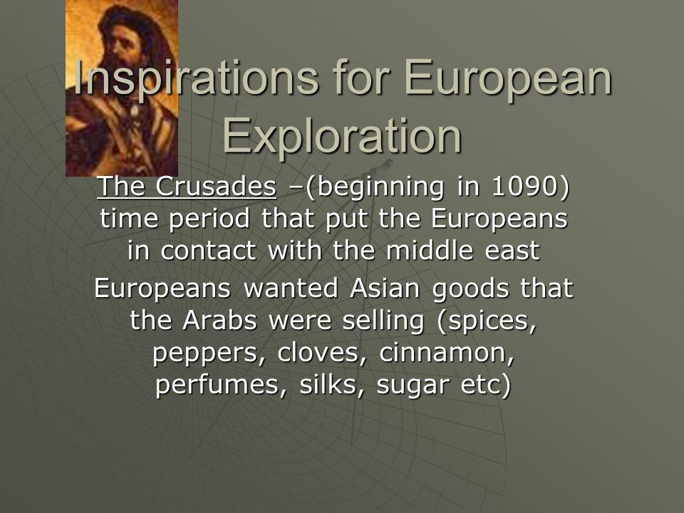 Inspirations for European Exploration