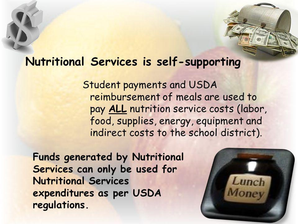 Nutritional Services is self-supporting