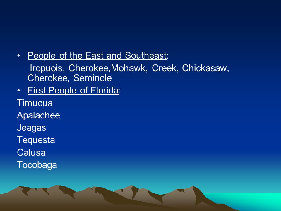 People of the East and Southeast: