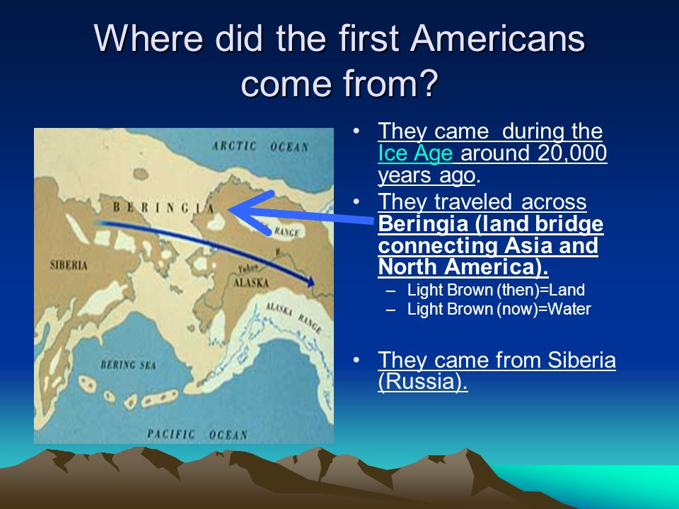 Where did the first Americans come from