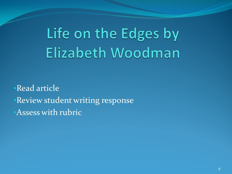 Life on the Edges by Elizabeth Woodman