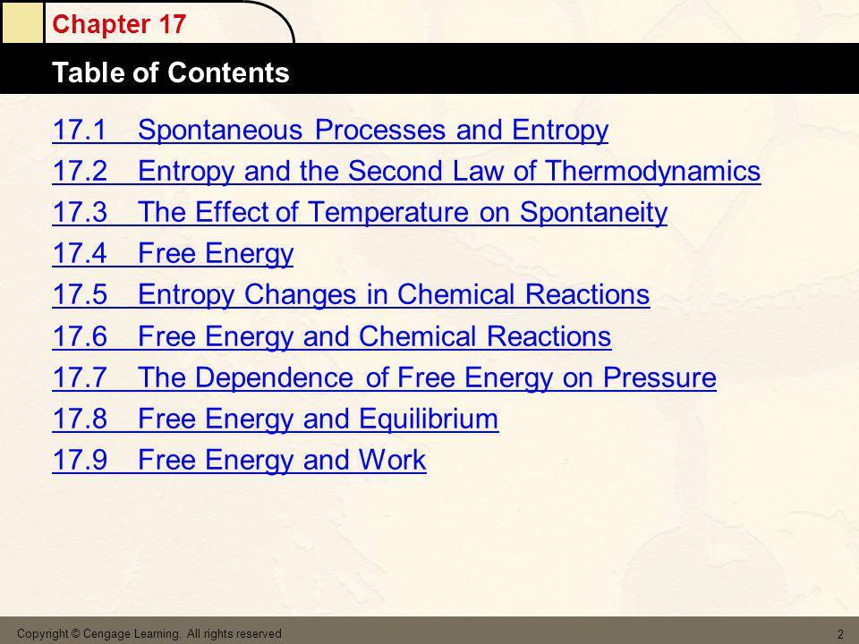 17.1 Spontaneous Processes and Entropy