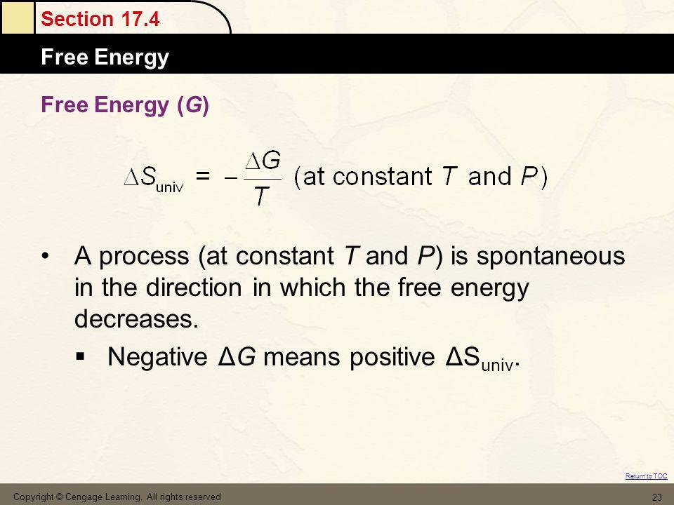 Negative ΔG means positive ΔSuniv.