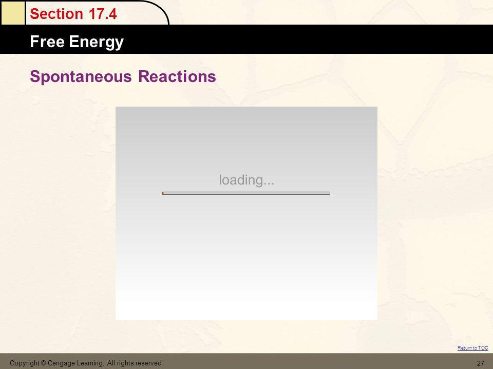 Spontaneous Reactions