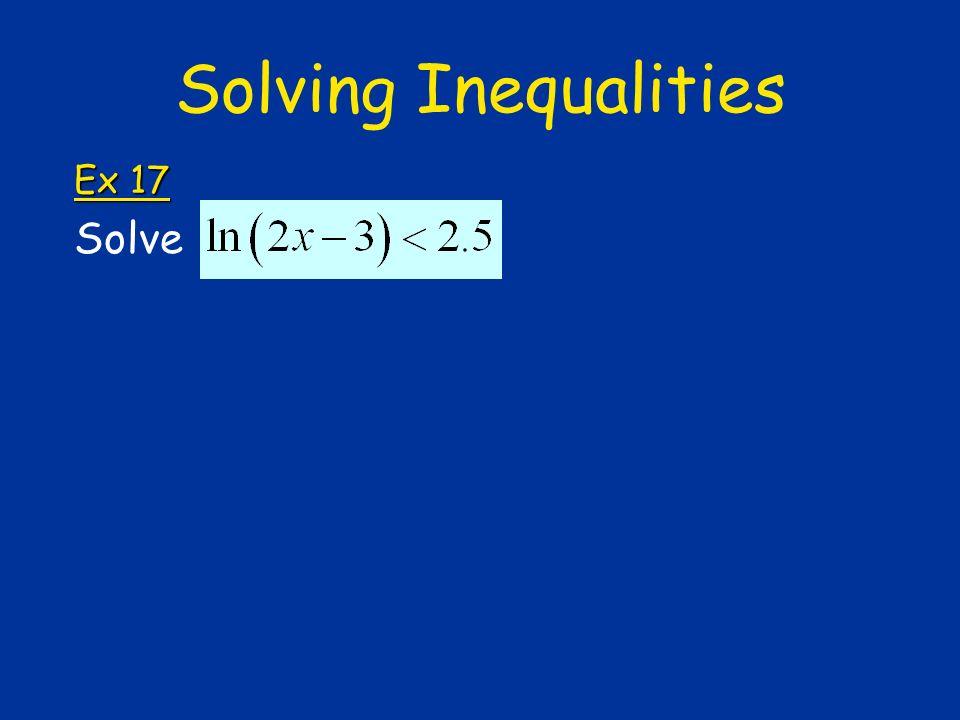 Solving Inequalities Ex 17 Solve