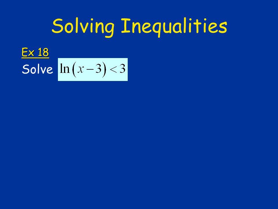 Solving Inequalities Ex 18 Solve